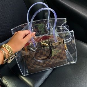 Brand new clear luxury bag